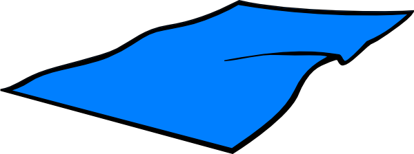 Blue Beach Towel Clip Art at Clker.com - vector clip art online ...