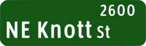 Ne Knott Street Sign Clip Art