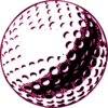 Golf Ball Number 1b Clip Art