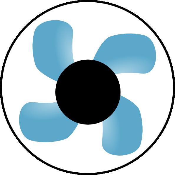 Fan Blade Clip Art : Fan black center clip art at clker vector