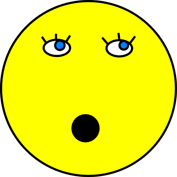 Surprised Smiley Face Clip Art at Clker.com - vector clip ...