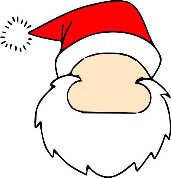 576 x 599 png 43kB, Blank Santa Face Clip Art at Clker.com - vector ...