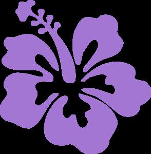 Hibiscus Purple Clip Art At Clkercom Vector Clip Art Online