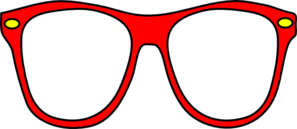 Red Glasses Clip Art