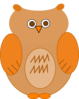 Orange And Brown Owl Clip Art