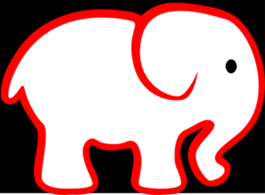 Red And Black Elephant Clip Art