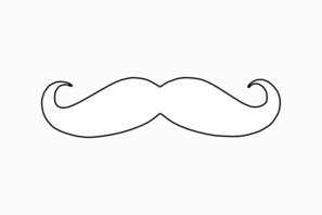 Mustache Outline Transparent Clip Art