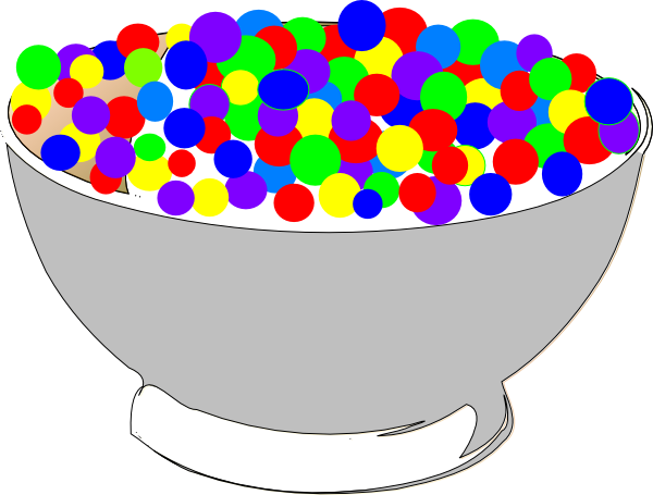 bowl of colorful cereal clip art at clker com vector clip art rh clker com