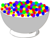 Bowl Of Colorful Cereal Clip Art