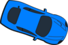 Blue Car - Top View - 340 Clip Art