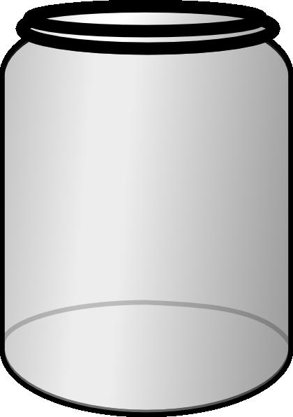 open jar with no top clip art at clkercom vector clip