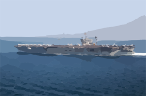 Uss John F. Kennedy Passing The Rock Of Gibraltar Clip Art