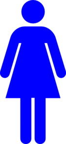Blue Female Restroom Symbol Clip Art