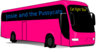 Pink Tour Bus Clip Art