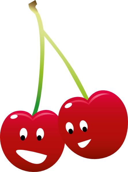 Pair Of Cherries Clip Art at Clker.com - vector clip art ...