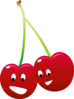 Pair Of Cherries Clip Art