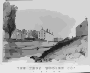 The Troy Woolen Cos., Factory At  Albia  2 1/2 Miles From Troy N.y. Clip Art