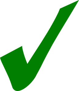 Dark Green Check Mark Clip Art