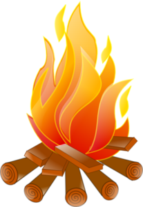 Campfire No Shadow Clip Art