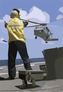 Sh-60b Leaves Deck Of Ship Clip Art