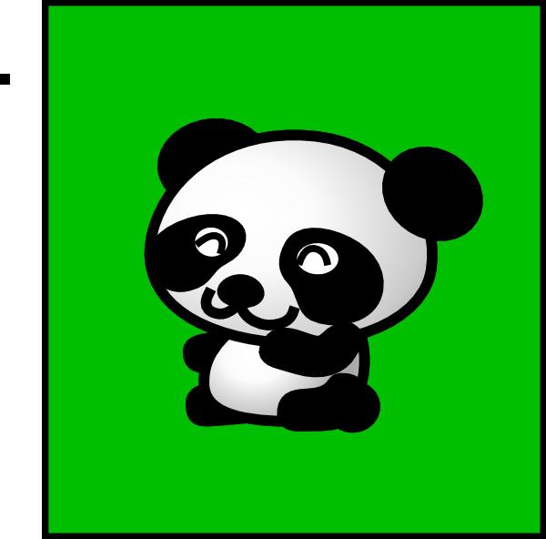Panda Green Background Smaller Clip Art At Clker Com
