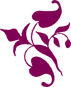 Leaves Decoration Purple Clip Art