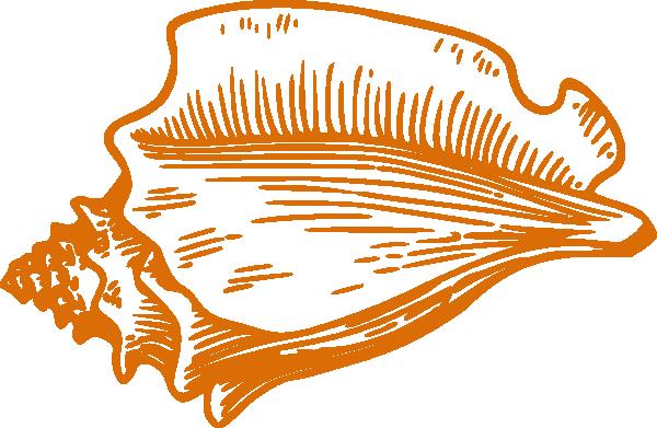 orange conch shell clip art at clker com vector clip art online rh clker com Nautilus Shell Clip Art Beach Shells Clip Art