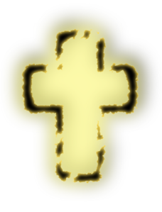 Glowing Cross Clip Art