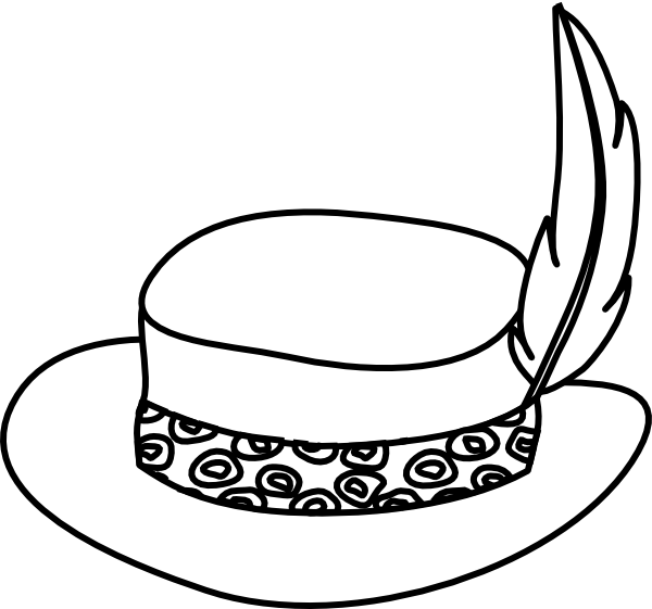 529417fe0b6 Hat Outline Clip Art at Clker.com - vector clip art online