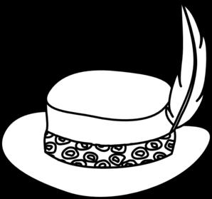 Hat Outline Clip Art at Clker.com - vector clip art online ...