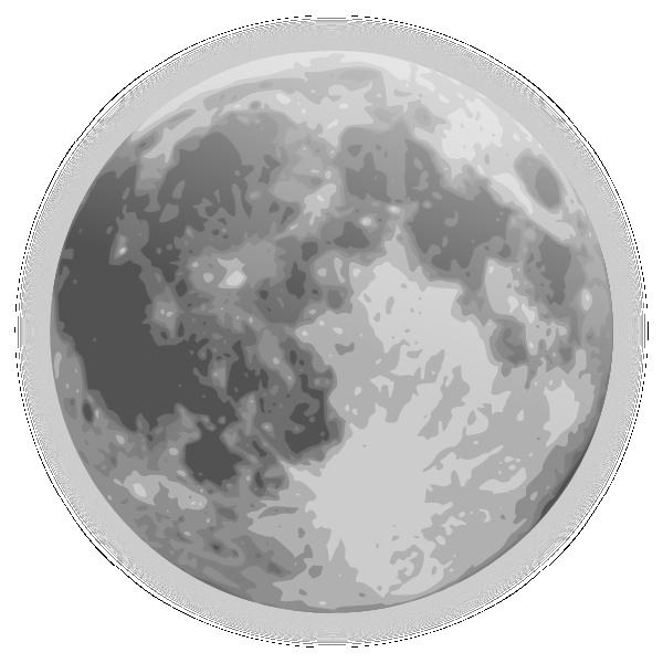 Full Moon Icon Clip Art at Clker.com - vector clip art ...