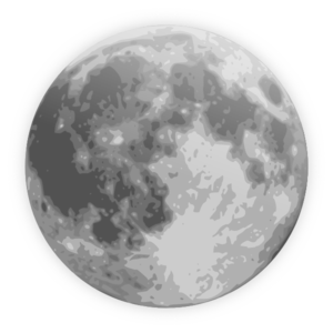 Full Moon Icon Clip Art