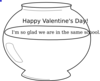 Valentine Fish Bowl Clip Art