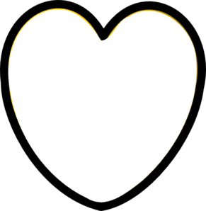Heart Black And White Clip Art