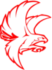 Falcon Red Outline Clip Art