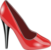 Red High Heel Clip Art