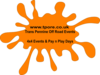 Orange Splat Clip Art