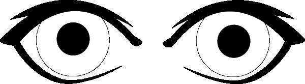 Eyes Outline Clip Art at Clker
