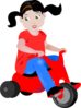 Riding In Red Clip Art