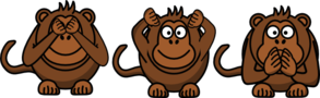 Brown Monkeys Clip Art