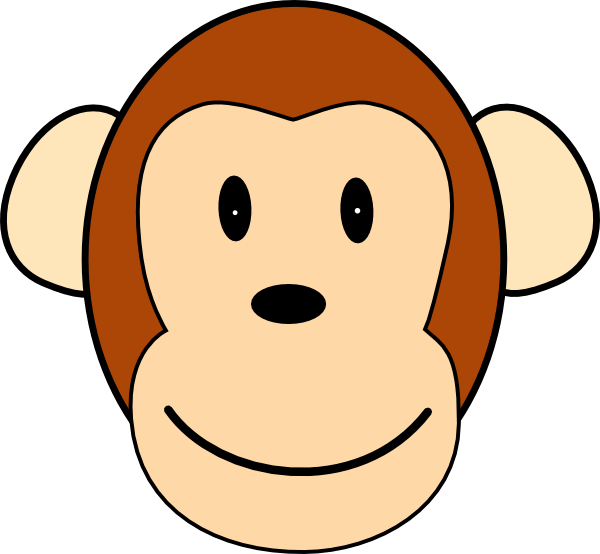 Happy Face Monkey Clip Art at Clker.com - vector clip art ...