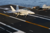 An F/a 18 Hornet Lands On The Flight Deck Clip Art