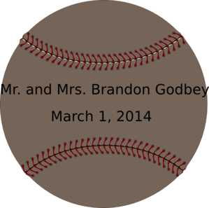Baseball Wedding Tag Clip Art