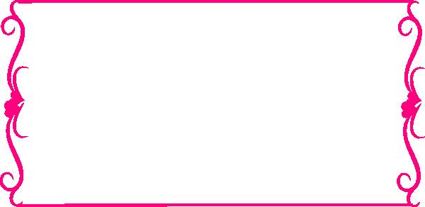 Bright Pink Heart Border clip art