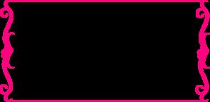 bright pink heart border clip art at clker com vector clip art rh clker com pink floral border clip art pink flower border clip art
