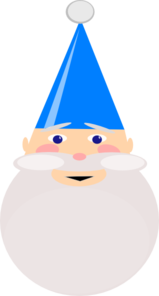 Gnome With Blue Hat Clip Art