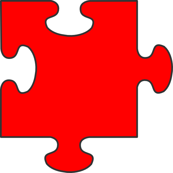 Red Puzzle Piece Top Clip Art at Clker.com - vector clip ...