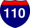 Interstate Sign I 110 Clip Art