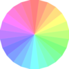 Transparent Color Wheel Clip Art
