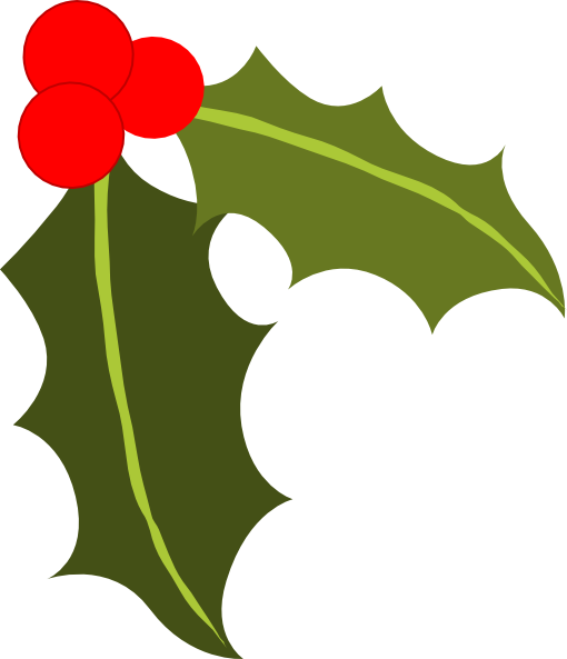 free xmas clipart holly - photo #29